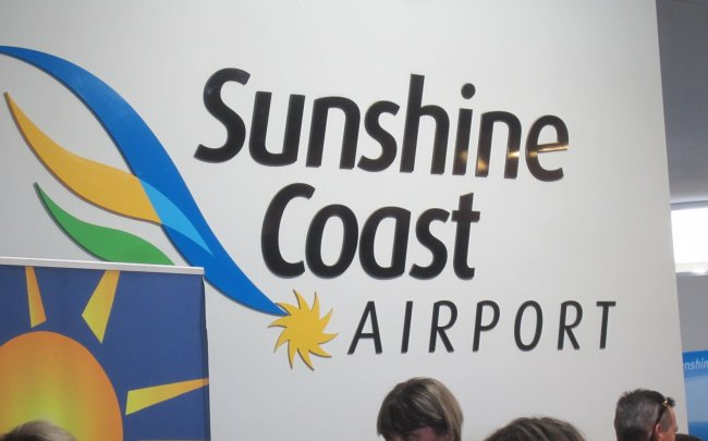 Sunshine Coast Airport signage photo
