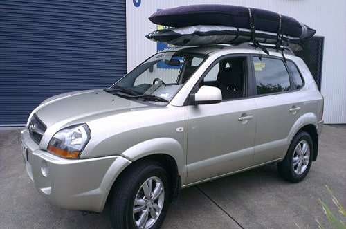Car hire with surfing racks